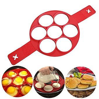 1Pcs silicone non stick fantastic egg pancake maker ring kitchen baking omelet moulds flip cooker egg ring mold