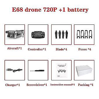 E68 Drone Hd Vidvinkel 4k Wifi 1080p Fpv Drone - Video Live Opptak