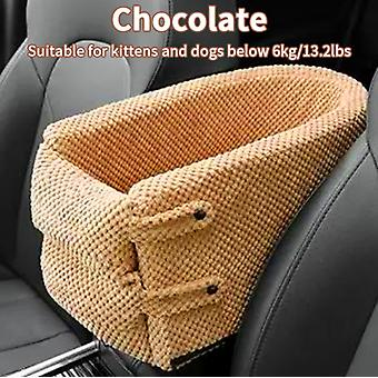 Portable Pet Dog Car Seat Central Control Nonslip Dog Carriers Safe Car Armrest Box Booster Kennel Bed For Small Cat Dog Travel