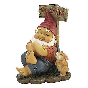 Summerfield Terrace Gnome On Strike Garden Figurine, Pack of 1