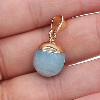 Natursten rose quarts Lapis Lazuli Halsband Hänge