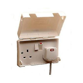 Power supply enclosures 13a double electric socket cover