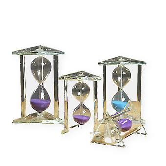 4pcs 3/5/10/15 Minutes Creative Crystal Hourglass Time Hourglass Timer Children's Quicksand Handicraft Ornaments