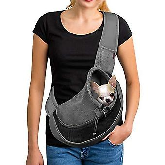 Reflective Pet Dog Sling Carrier Breathable Mesh Travel Safe Sling Bag Carrier For Dogs Cats (s Up To 5lbs Black)