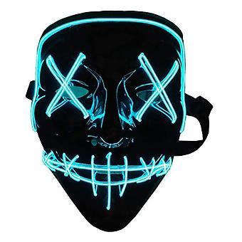 Halloween maske, led lys op maske, skræmmende cosplay maske