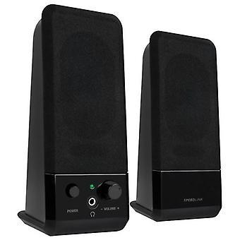 SPEEDLINK eveniment USB 2,0 stereo boxe negru (SL-8004-BK)