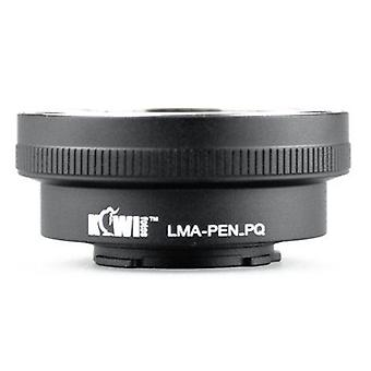 Kiwifotos Lens Mount Adapter: Allows Olympus PEN F (Film SLR Camera) Mount Lenses to be used on the Pentax Q, Q10
