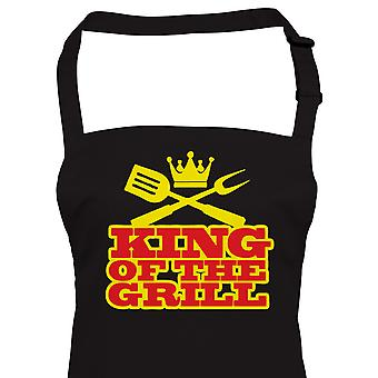 King Of The Grill Funny BBQ Apron, Fathers Day Birthday Gift Barbecue Smoker