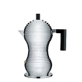 Alessi Pulcina Espresso Coffee Maker - 3 Cup - Black