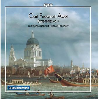 Abel / La Stagione Frankfurt / Schneider - Carl Friedrich Abel: Symphony Op 7 [CD] USA import