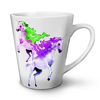 Unicorn Stylish NEW White Tea Coffee Ceramic Latte Mug 12 oz | Wellcoda
