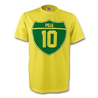 Pele Brasilien Crest Tee (gelb) - Kids
