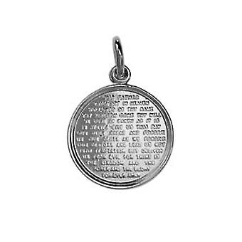 Silver 16mm round The Lords Prayer Pendant