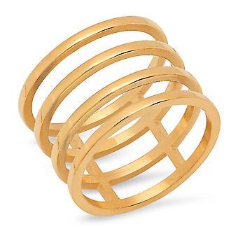السيدات 18 ك الذهب مطلي بالفولاذ المقاوم للصدأ قطع جلاديتور الالتفاف الدائري