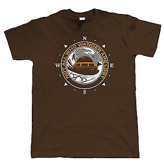 Not All Who Wander Are Lost Campervan T Shirt, T25 Camping Gift for Him Dad