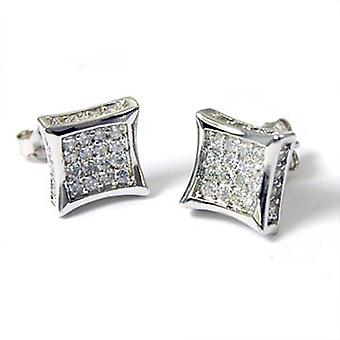 Sterling 925 Silver earrings - ALL ICE 10 mm