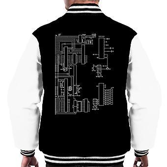 Varsity Jacket schématique masculine Nintendo ordinateur