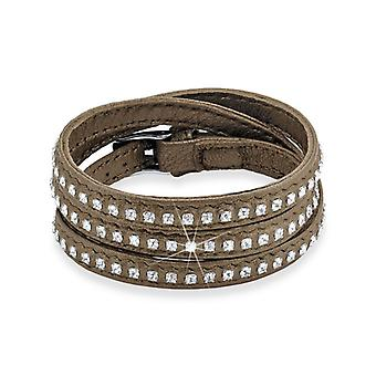 s.Oliver jewel ladies bracelet stainless steel leather SO1074/1 - 489812