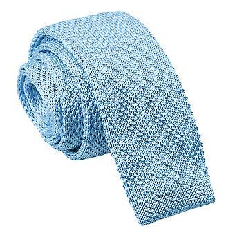 Gravata de magro de malha bebê azul