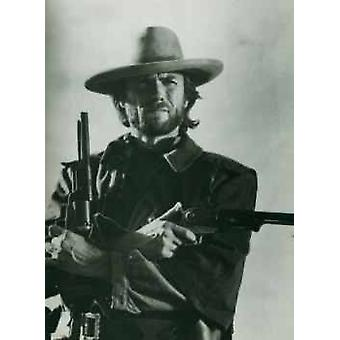 Clint Eastwood geweren Poster Poster afdrukken