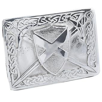 Celtic Flag of Scotland Belt Buckle