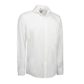 ID Mens Poplin Tuxedo Shirt Long Sleeve Modern Fit