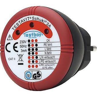Testboy Schuki® 3A Mains outlet tester CAT II 300 V LED