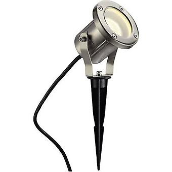 229740 Nautilus Spike Garden spotlight LED (monochrome), Energy-saving bulb, HV halogen GU10 35 W Stainless steel