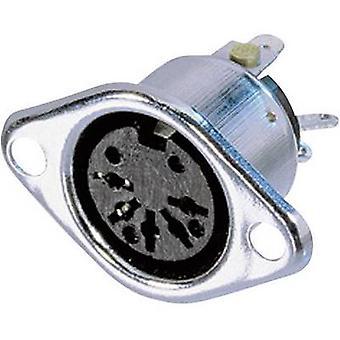 Neutrik NYS324 DIN connector manga soquete, reta pinos número de pinos: 3 prata 1 computador (es)