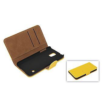 मोबाइल के लिए सैमसंग गैलेक्सी S5 सेल फोन के मामले (फ्लिप क्रॉस) कवर / S5 नव पीला