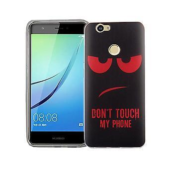 Dont Touch My Phone Handyhülle Huawei Nova Silikon Panzer Schutz Glas