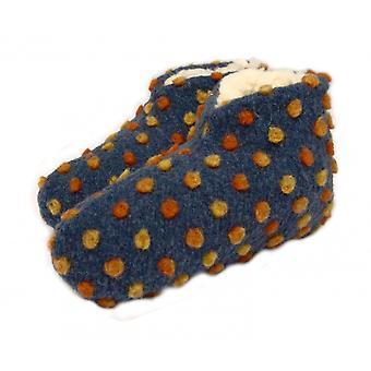 Laine de chaussures lit points bleu 42/43