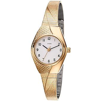 JOBO Mesdames poignet montre quartz analogique or plaqué montre dames
