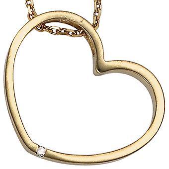 Släpvagn IZZY hjärta guld 585 diamant diamant 0,01 ct