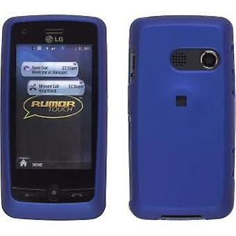 Ventev Soft Touch Snap-On Case for LG Rumor Touch UN510, LN510 - Dark Blue
