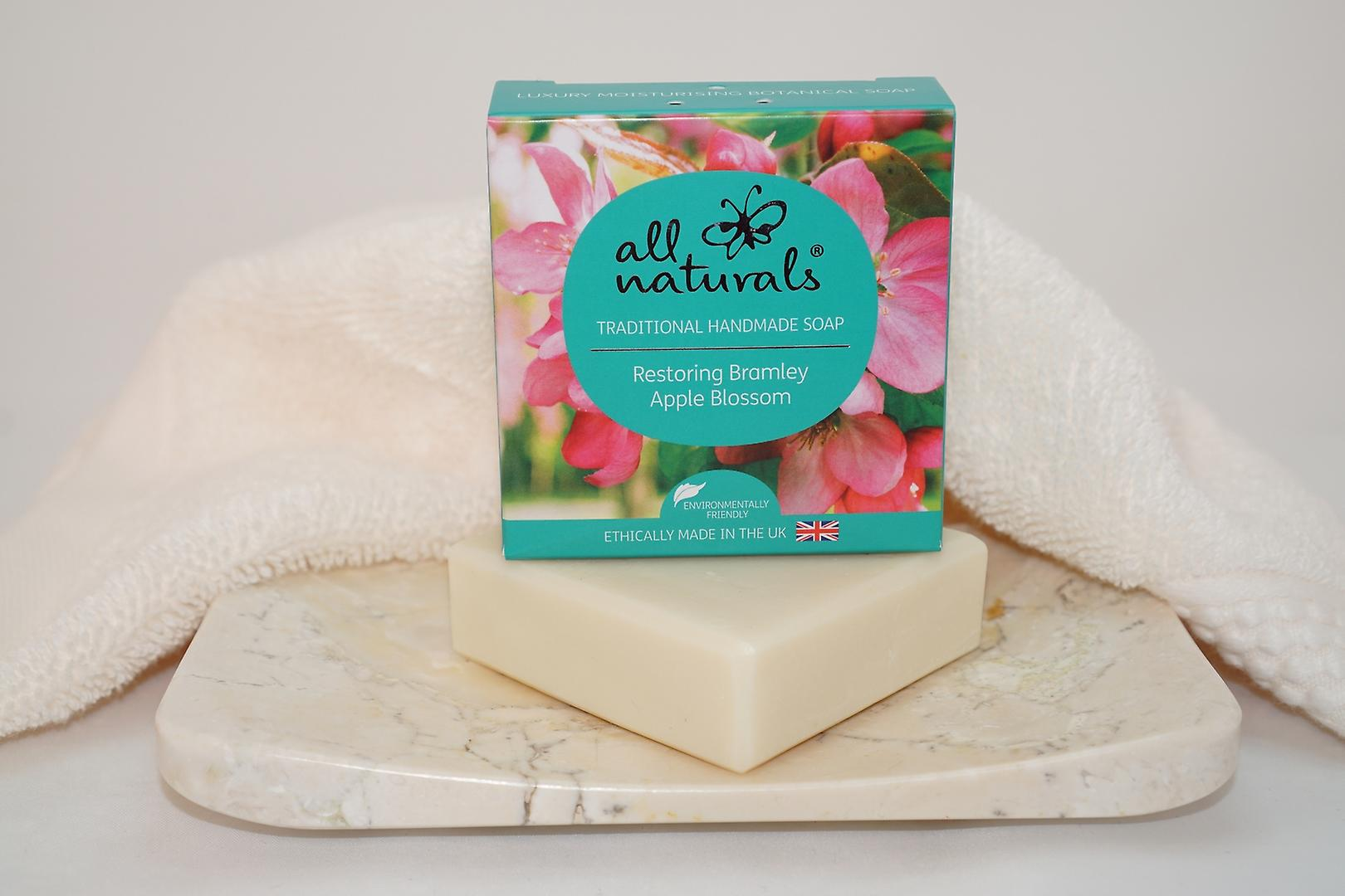 All Naturals Organic Soap Bar  Apple Blossom 100g
