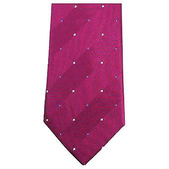 Knightsbridge dassen dubbele patroon stropdas - roze