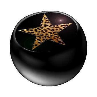 Piercing ersättare boll svart, piercingsmycken, Leo Star | 1,6 x 5 och 6 mm