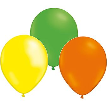 Balloons mix 24-pack Green, Yellow and Orange