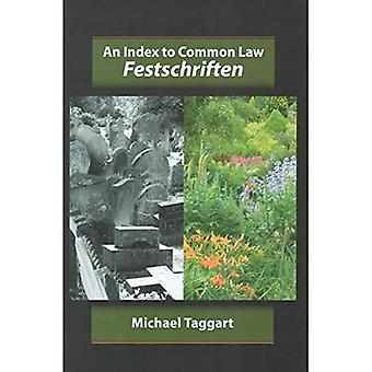 An Index to Common Law Festschriften