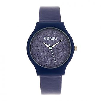 Crayo Glitter Unisex Watch - Purple
