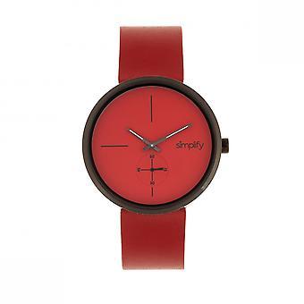 Simplifier le 4400 cuir-bracelet - rouge