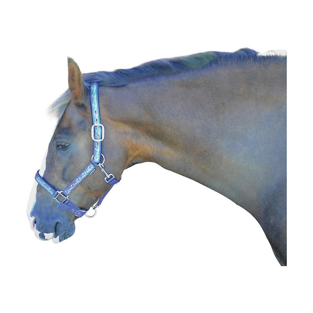 Hy Equestrian Christmas Headcollar Festive Faud Fur Glitter Horse Adjustable New