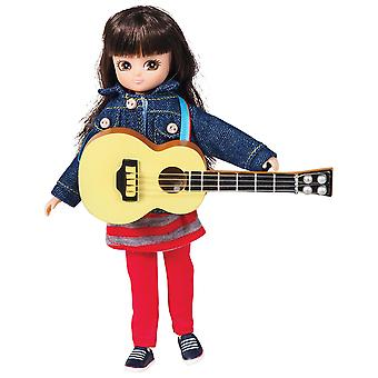 Lottie Doll Music Class Figure with Guitar, Outfit Accessories Set and Hair