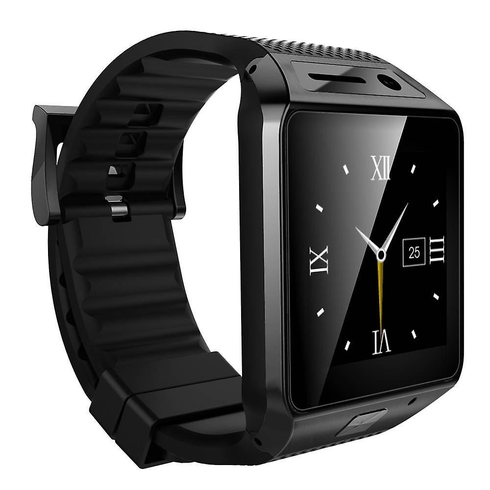 Stuff Certified® Original DZ09 Smartwatch Smartphone Fitness Sport Activity Tracker Watch OLED Android iOS iPhone Samsung Huawei Black