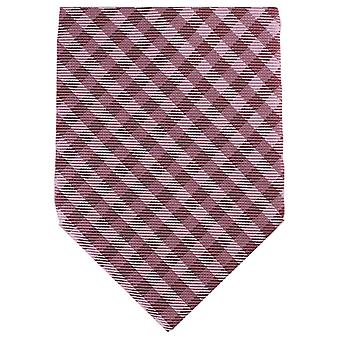 Knightsbridge Neckwear Checked Tonal Regular Polyester Tie - Red