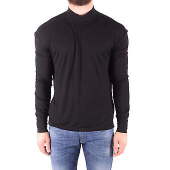 Diesel Ezbc065034 Uomo's Black Viscose T-shirt