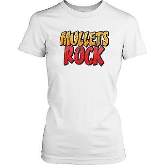 Mullets Rock - morsom vits damer T skjorte
