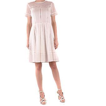 Michael Kors Ezbc063100 Women's White Cotton Dress