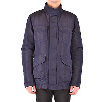 Peuterey Ezbc017120 Men's Blue Nylon Outerwear Jacket